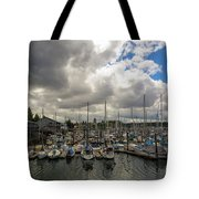 Marina In Olympia Washington Waterfront Tote Bag