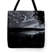 Marina Sunset Black And White Tote Bag