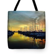 Marina Sunset Tote Bag