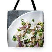 Marinated Tuna Vegetable And Herb Salad Tote Bag