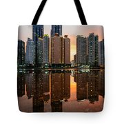 Marine City Sunset Tote Bag