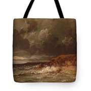 Marine Landscape The Cape And Dunes Of Saint Quentin 1870 Tote Bag
