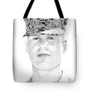 Marine Sgt Joseph Fankhauser  Tote Bag