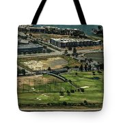 Mariners Point Golf Center In Foster City, California Aerial Photo Tote Bag