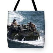 Marines Operate An Amphibious Assault Tote Bag