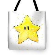 Mario Invincibility Star Watercolor Tote Bag