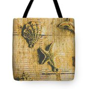 Maritime Sea Scroll Tote Bag
