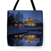 Marjorie Mcneely Conservatory At Dusk Tote Bag