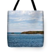 Mark Abbot Memorial Lighthouse - Lighthouse On The Beach - Santa Cruz Ca Usa Tote Bag by Christine Till