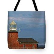 Mark Abbott Memorial Lighthouse California - The World's Oldest Surfing Museum Tote Bag by Christine Till