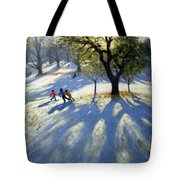 Markeaton Park Early Snow Tote Bag
