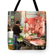 Market Butchery Hong Kong Tote Bag