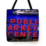 Market Clock And Ferry  Tote Bag