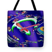 Market Clock In Fractal Tote Bag