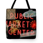 Market Collage Tote Bag