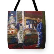 Market Conversation Tote Bag