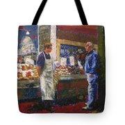 Market Conversation Tote Bag
