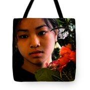 Market Flower Seller Tote Bag