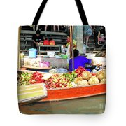 Market In Thailand Tote Bag