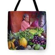 market stall in Nicaragua Tote Bag