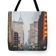 Market Street Philadelphia - In The Morning Tote Bag