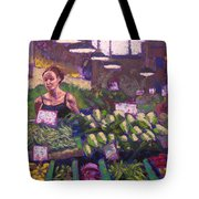 Market Veggie Vendor Tote Bag