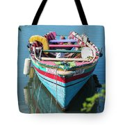 Marley Rowboat Rodney Bay Saint Lucia Tote Bag