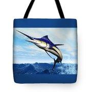 Marlin Jump Tote Bag by Corey Ford