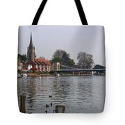 Marlow By The River Thames Tote Bag