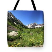 Maroon Bells In Summer 2 Tote Bag