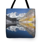 Maroon Bells Mirror Tote Bag by Jemmy Archer