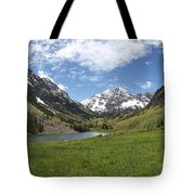 Maroon Bells Trail Panorama Tote Bag
