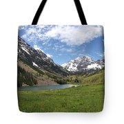 Maroon Bells Wilderness Panorama Tote Bag