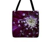 Maroon Dahlia Tote Bag