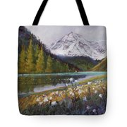 Maroon Lake Tote Bag