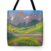 Maroon Lake Tote Bag