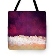 Maroon Ocean Tote Bag