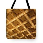 Marquee Lights On Theater Ceiling Tote Bag
