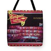 Marquee Motel 1960's Wildwood, Nj, Copyright Aladdin Color Inc. Tote Bag