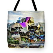 marques de riscal Hotel at sunset - frank gehry - vintage version Tote Bag