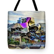 marques de riscal Hotel at sunset - frank gehry Tote Bag
