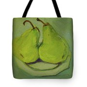 Marriage Of The Pears Tote Bag