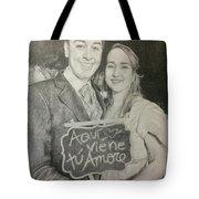Marriage Portrait Tote Bag
