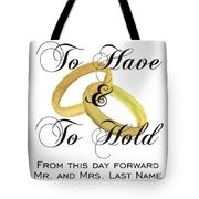 Marriage Vows Tote Bag