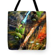 Married With Children Dragonflies Mating Tote Bag