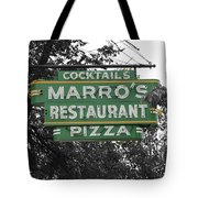 Marro's Restaurant Tote Bag