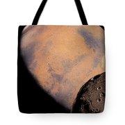 Mars And Phobos Tote Bag