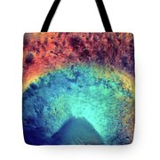 Mars Crater Surface Colorful Painting Tote Bag