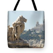 Marseille-saint-charles Statue, France Tote Bag