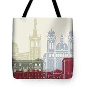 Marseille Skyline Poster Tote Bag